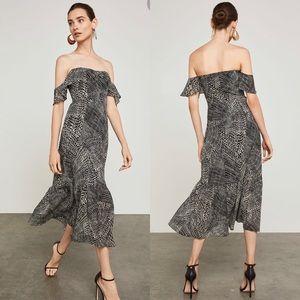 BCBG Sahara Off-The-Shoulder Midi Dress Size 0